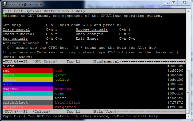 PuTTY, Linux Terminal, Xterm, Emacs, 256 Colors – I Grok2!